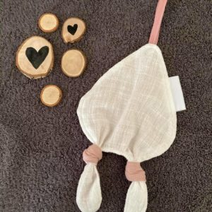 Speendoek – oud roze met goud